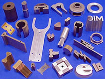 Sample parts, production parts, prototypes, medical devices, tooling, tool and die all made by wire EDM, sinker EDM, 